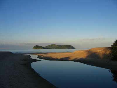 Vista da Barra seca e Ilhas